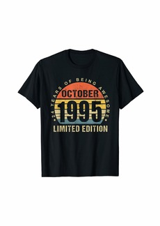 Born October 1995 Limited Edition Bday Gifts 24th Birthday T-Shirt