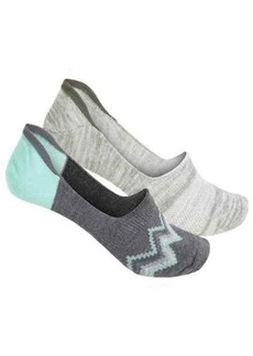 Born Ombre Zigzag No-Show Sock - 2-Pack, Below the Ankle (For Women)