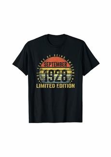 Born September 1928 Limited Edition Bday Gifts 91st Birthda T-Shirt