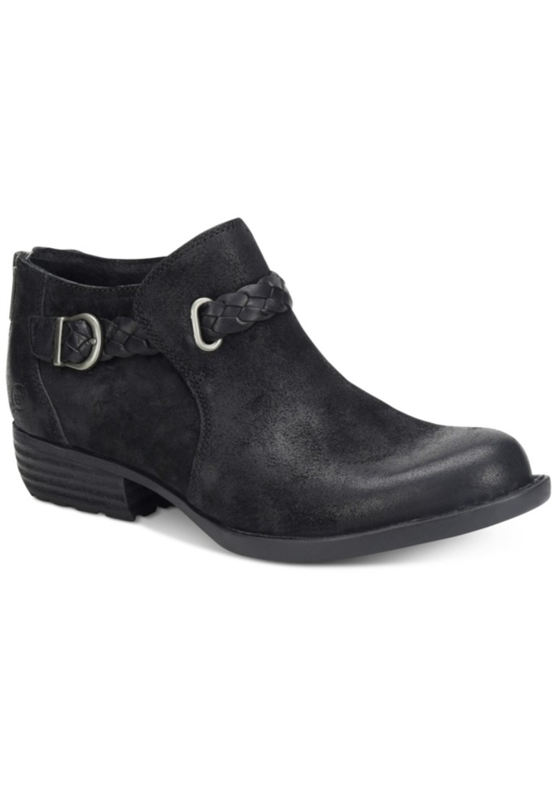 Born Sylvia Leather Booties Women's Shoes
