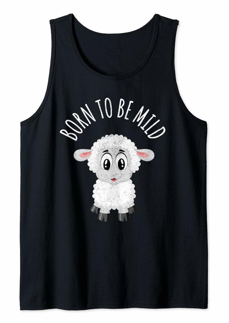 Born To Be Mild Cute Sheep Top Tank Top
