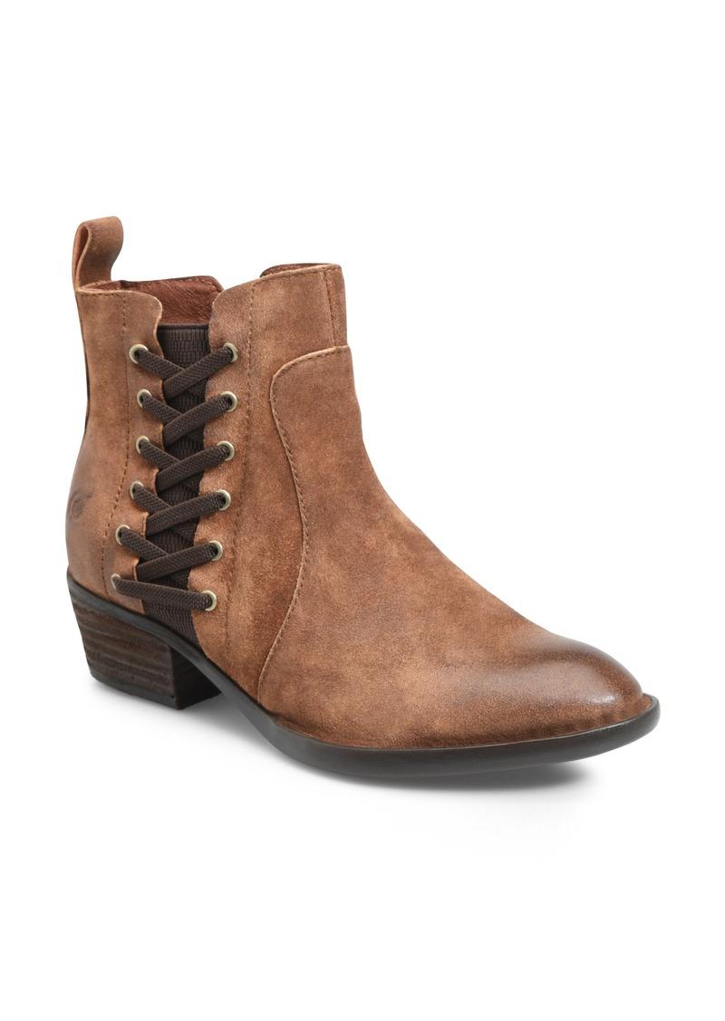 Born Enns Leather Block Heel Pumps