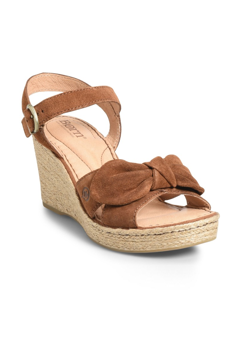 98c4bee0b2cd Born Børn Monticello Knotted Wedge Sandal (Women)