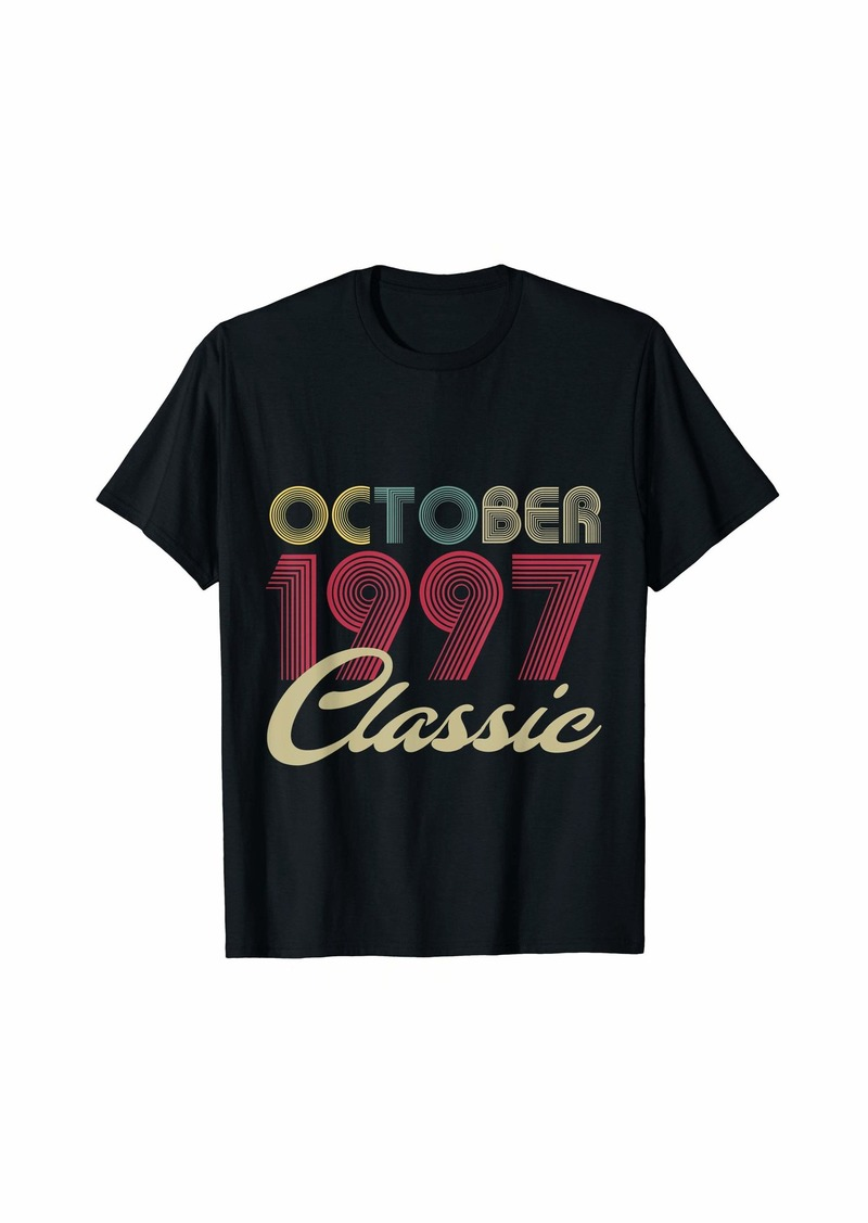 Born Classic October 1997 Bday Men Women Gifts 22nd Birthday T-Shirt