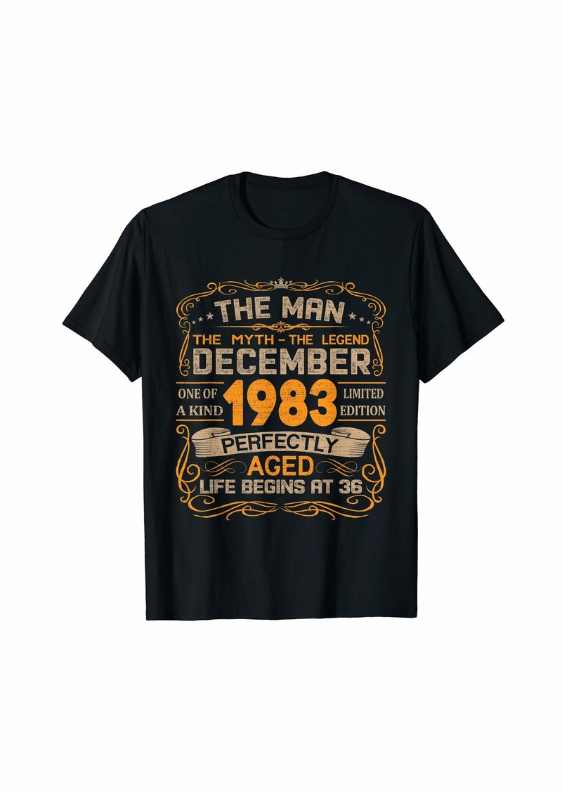 Born December 1983 Man Myth Legend 36th Birthday Gifts 36 Yrs Old T-Shirt
