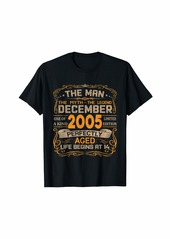 Born December 2005 Man Myth Legend 14th Birthday Gifts 14 Yrs Old T-Shirt