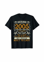 Born December 2005 Shirt 14 Years Old 14th Birthday Gifts T-Shirt