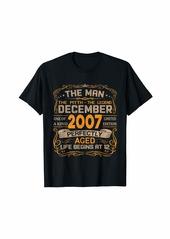 Born December 2007 Man Myth Legend 12th Birthday Gifts 12 Yrs Old T-Shirt