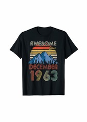 Born December Awesome Since 1963 56 Years Old 56th Birthday T-Shirt