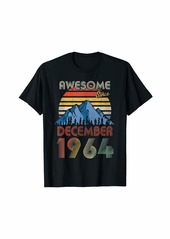Born December Awesome Since 1964 55 Years Old 55th Birthday T-Shirt