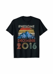 Born December Awesome Since 2016 3 Years Old 3rd Birthday T-Shirt