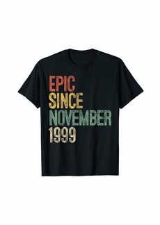 Born Fun Epic Since November 1999 20th Birthday Gift 20 Year Old T-Shirt