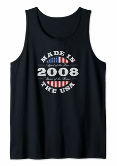 Born Gift for 12 Year Old: USA 2008 12th Birthday Tank Top