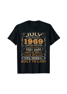 Born July 1969 Vintage 52 Years Old 52nd Birthday Gifts Family T-Shirt