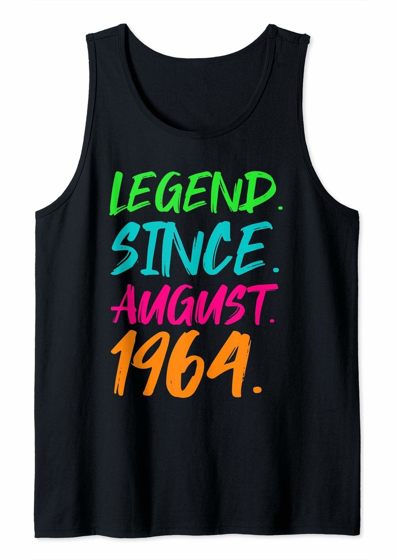 Born Legend Since August 1964 Men Women Bday Gifts 55th Birthday Tank Top
