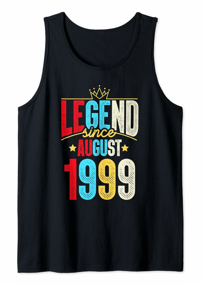 Born Legend Since August 1999 Bday Gifts 20th Birthday Tank Top