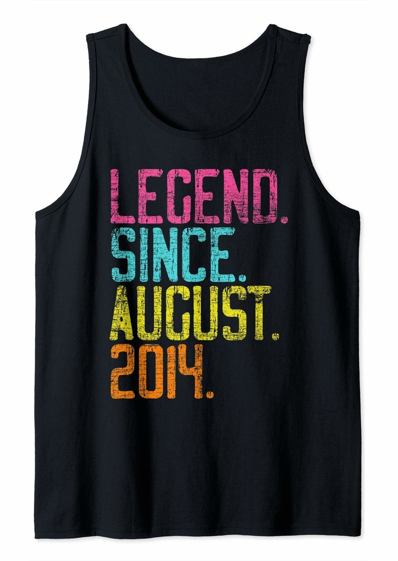 Born Legend Since August 2014 Bday Gifts 5th Birthday Tank Top