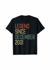 Born Legend Since December 2001 18th Birthday Gift 18 Year Old T-Shirt