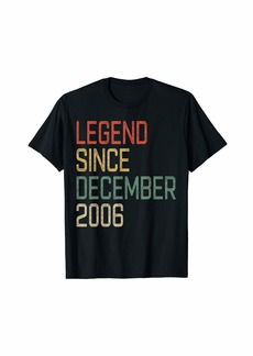 Born Legend Since December 2006 13rd Birthday Gift 13 Year Old T-Shirt