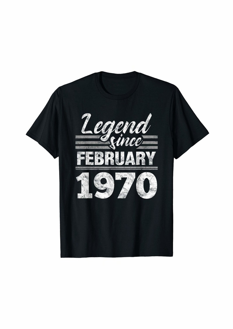 Born Legend Since February 1970 - 50 Year Old Gift 50th Birthday T-Shirt