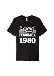 Born Legend Since February 1980 - 40 Year Old Gift 40th Birthday Premium T-Shirt