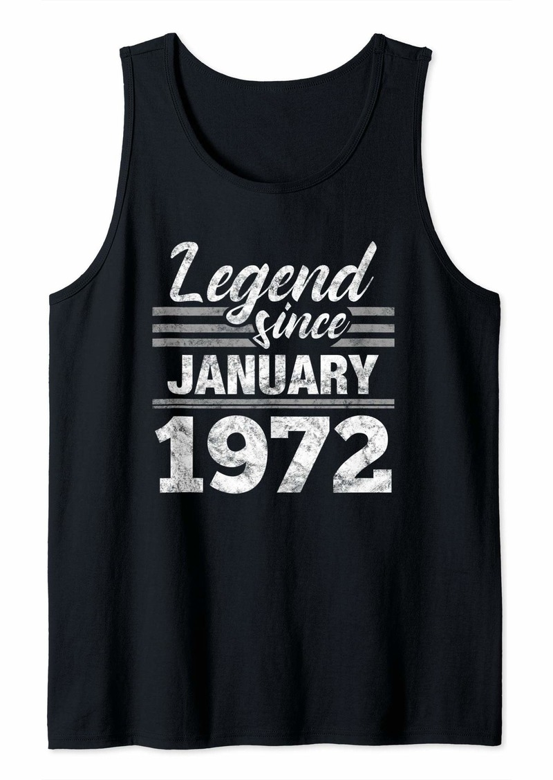 Born Legend Since January 1972 - 48 Year Old Gift 48th Birthday Tank Top