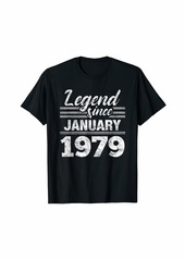 Born Legend Since January 1979 - 41 Year Old Gift 41st Birthday T-Shirt