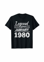 Born Legend Since January 1980 - 40 Year Old Gift 40th Birthday T-Shirt