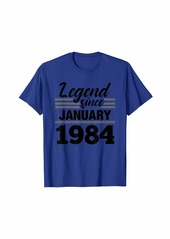 Born Legend Since January 1984 - 36 Year Old Gift 36th Birthday T-Shirt