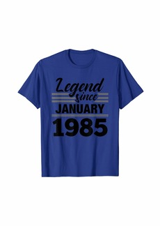 Born Legend Since January 1985 - 35 Year Old Gift 35th Birthday T-Shirt