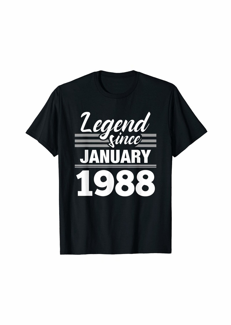 Born Legend Since January 1988 - 32 Year Old Gift 32nd Birthday T-Shirt