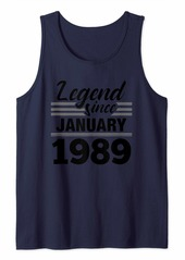 Born Legend Since January 1989 - 31 Year Old Gift 31st Birthday Tank Top