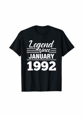 Born Legend Since January 1992 - 28 Year Old Gift 28th Birthday T-Shirt