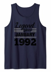 Born Legend Since January 1992 - 28 Year Old Gift 28th Birthday Tank Top