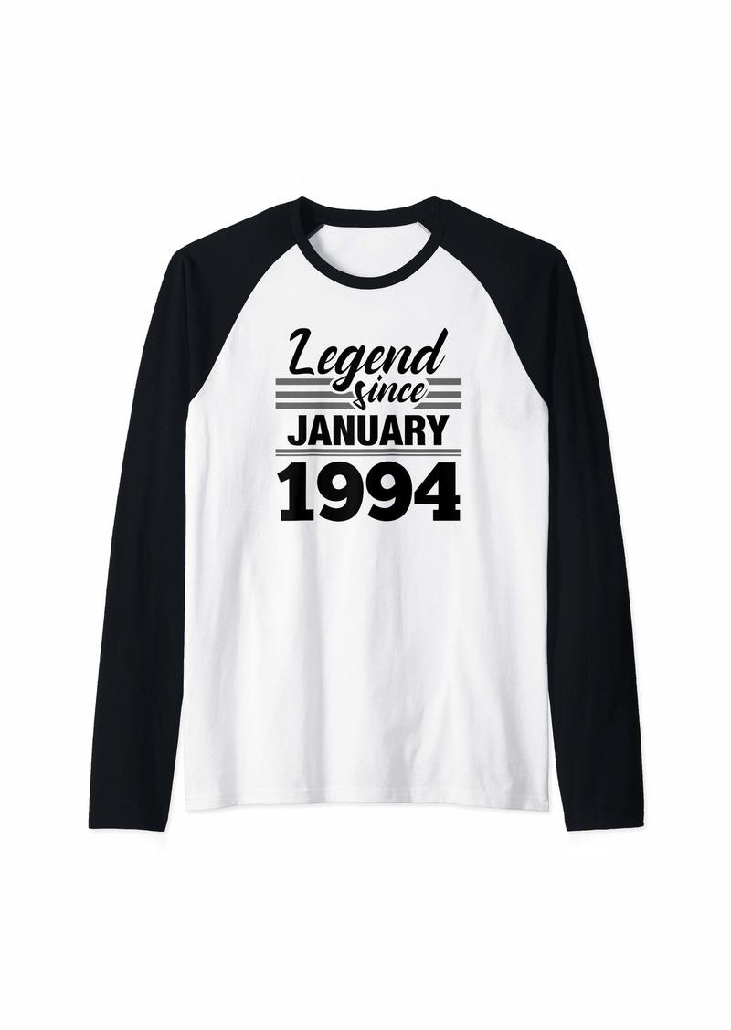 Born Legend Since January 1994 - 26 Year Old Gift 26th Birthday Raglan Baseball Tee