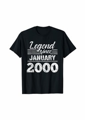 Born Legend Since January 2000 - 20 Year Old Gift 20th Birthday T-Shirt