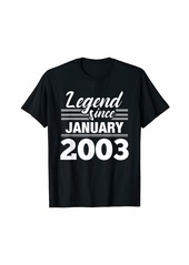 Born Legend Since January 2003 - 17 Year Old Gift 17th Birthday T-Shirt