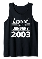 Born Legend Since January 2003 - 17 Year Old Gift 17th Birthday Tank Top