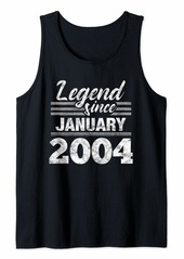 Born Legend Since January 2004 - 16 Year Old Gift 16th Birthday Tank Top