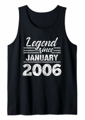 Born Legend Since January 2006 - 14 Year Old Gift 14th Birthday Tank Top