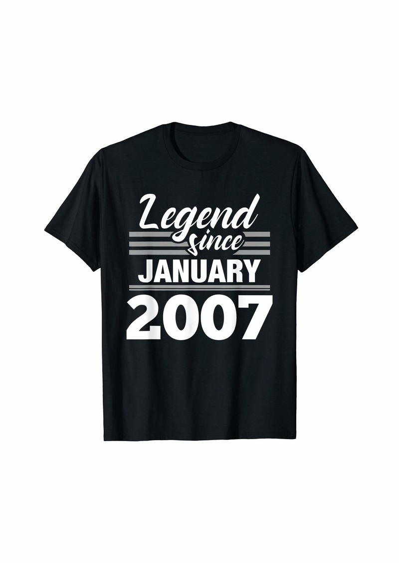 Born Legend Since January 2007 - 13 Year Old Gift 13th Birthday T-Shirt