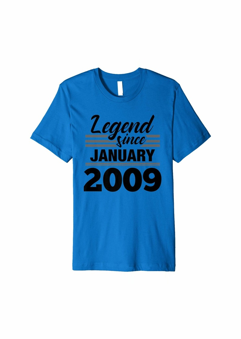 Born Legend Since January 2009 - 11 Year Old Gift 11th Birthday Premium T-Shirt