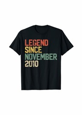 Born Legend Since November 2010 9th Birthday Gift 9 Year Old T-Shirt
