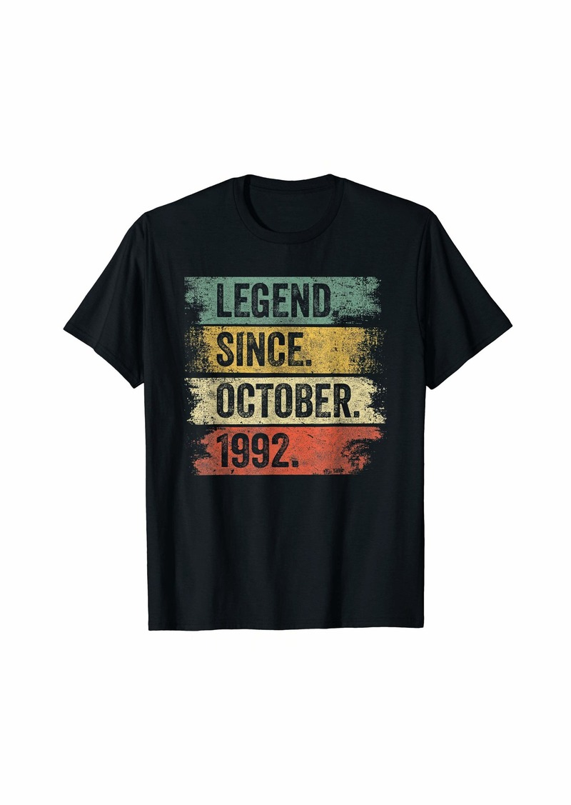 Born Legend Since October 1992 27th Birthday Gifts 27 Year Old T-Shirt