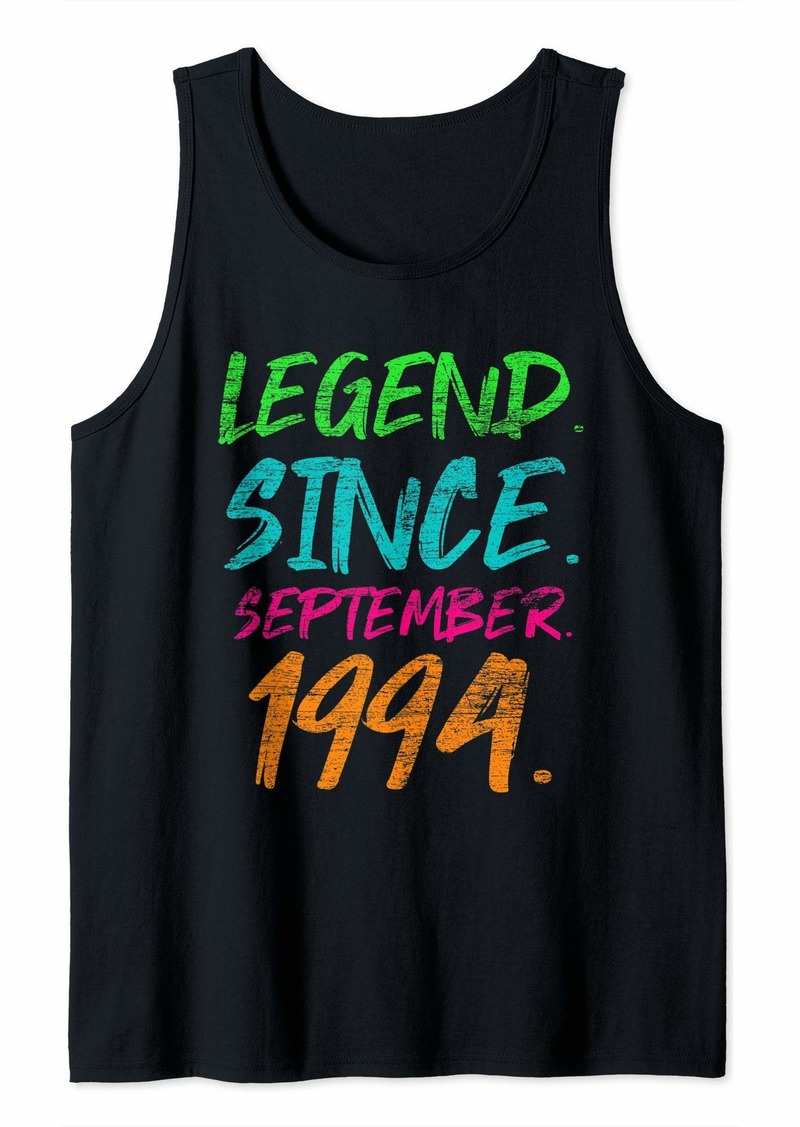 Born Legend Since September 1994 Bday Gifts 25th Birthday Tank Top