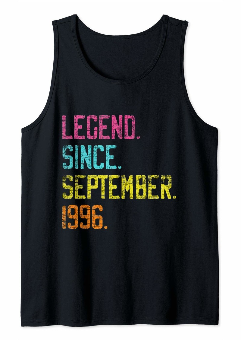 Born Legend Since September 1996 Bday Gifts 23rd Birthday Tank Top