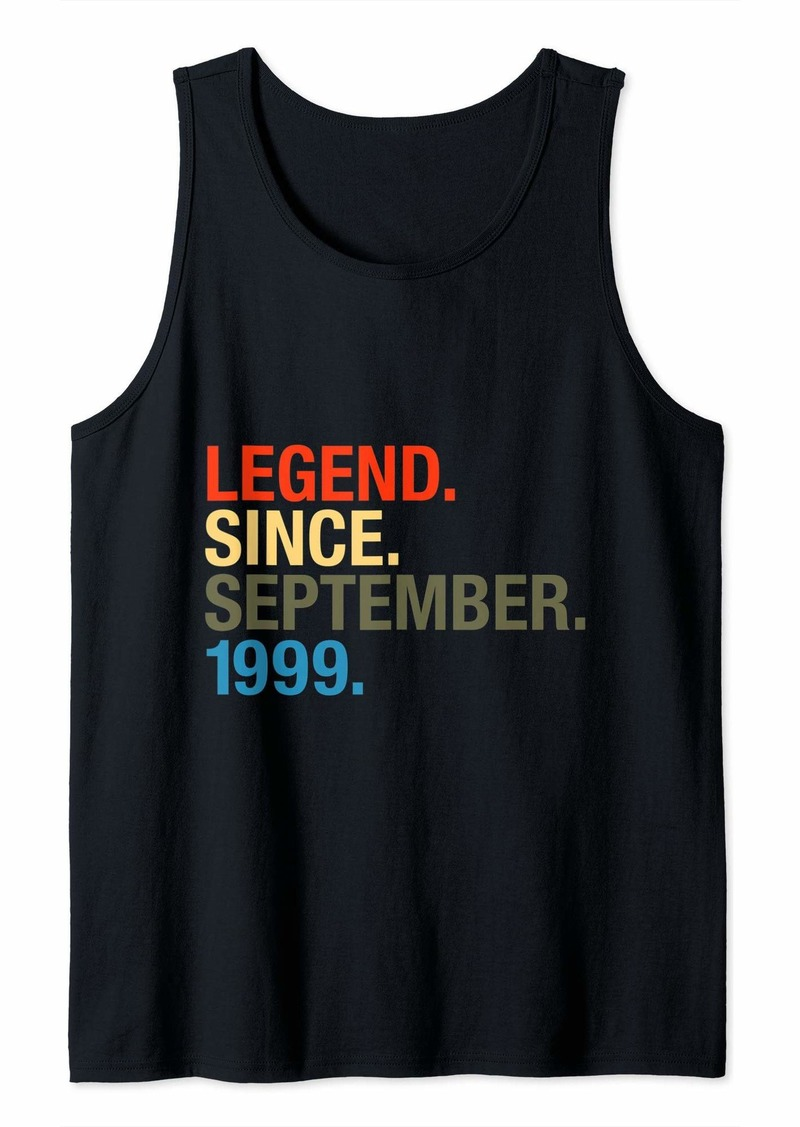 Born Legend Since September 1999 Bday Gifts 20th Birthday Tank Top