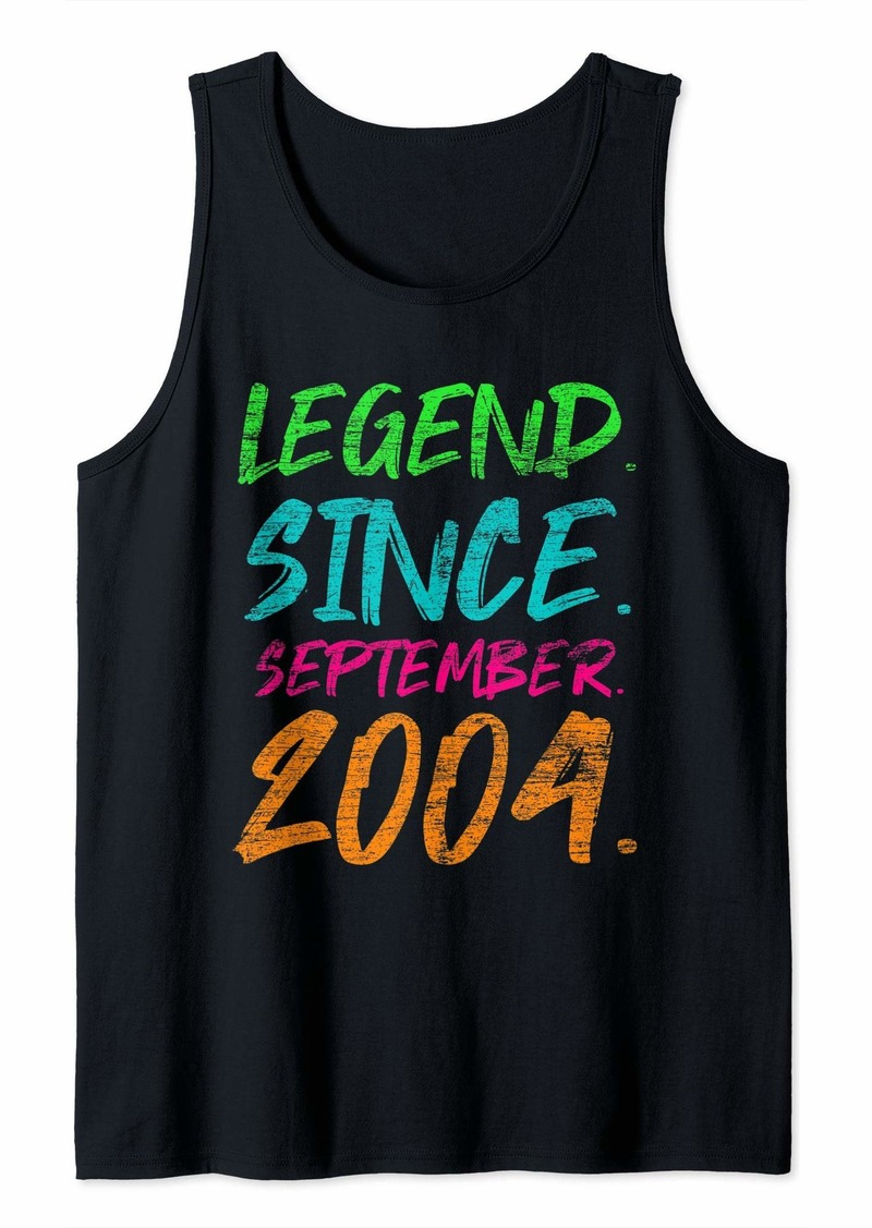 Born Legend Since September 2004 Bday Gifts 15th Birthday Tank Top