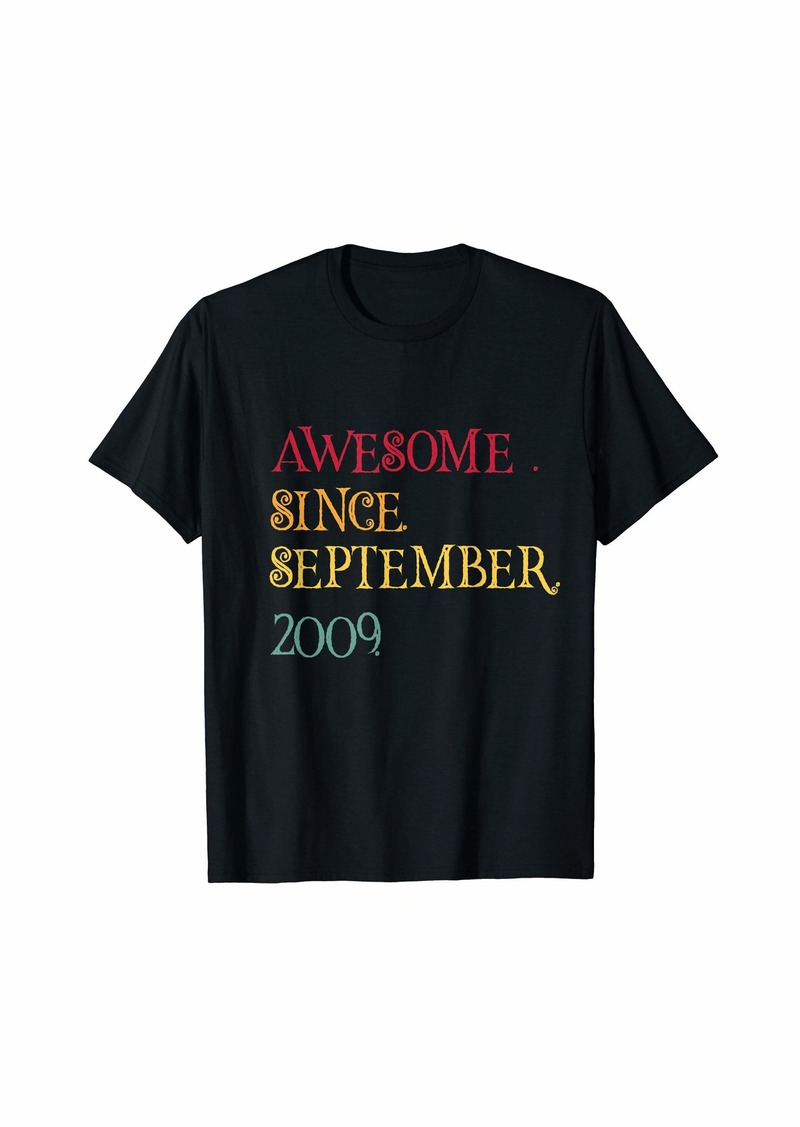 Born Legend Since September 2009 10th Birthday Gift Halloween T-Shirt