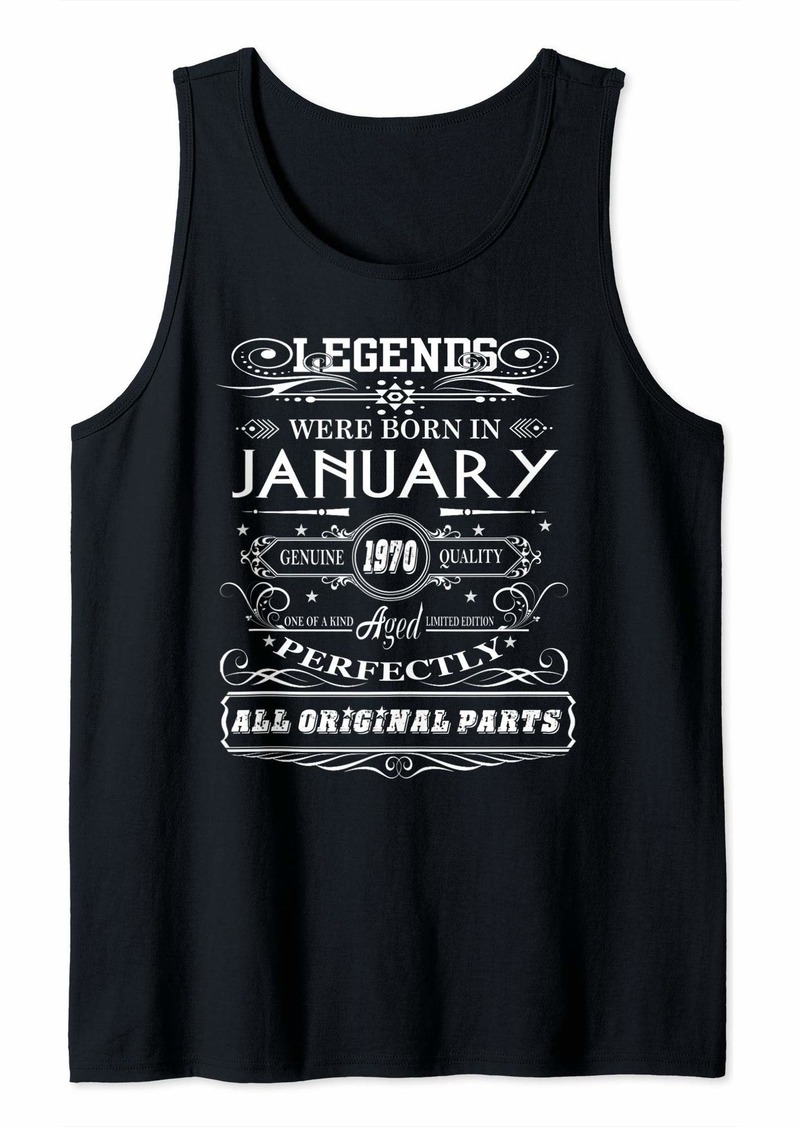 Legends Were Born in January 1970 50th Birthday Tank Top